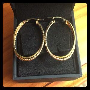 10k gold double hoop earrings